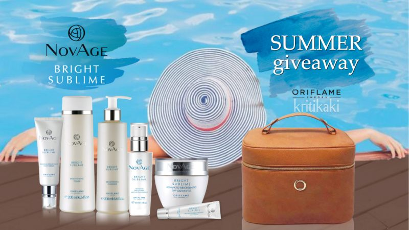 Giveaway με Δώρα τη νέα σειρά Novage Bright Sublime & το νεσεσέρ Novage – συνολικής αξίας 280€!