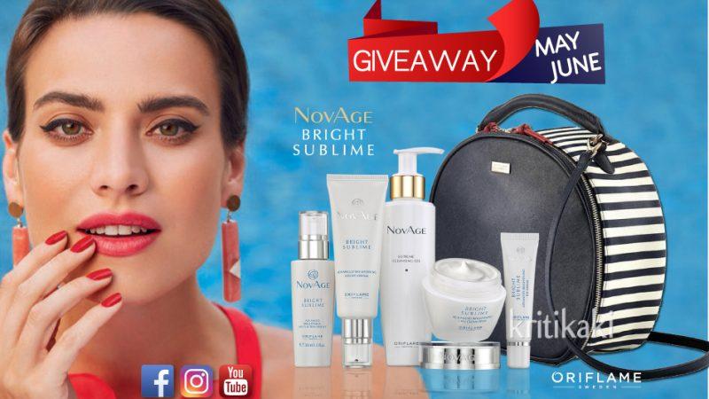 Giveaway Μαΐου – Ιουνίου με δώρα Set NovAge Bright Sublime & Beauty Case Linnea